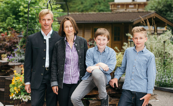 Family Angelika and Christian Pfurtscheller with Matthias and Thomas