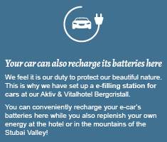 Your car can also recharge its batteries here